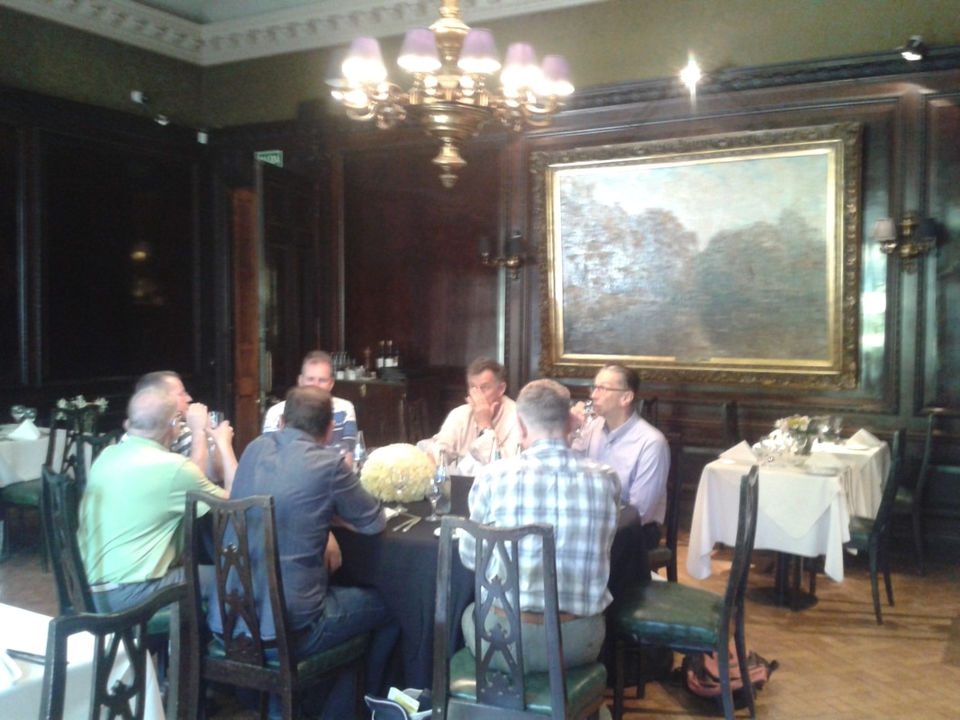 Picture of a dinner with our gay tour group during of of the previous gay adventure tour of argentina