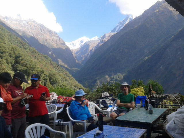 Picture of a relaxing time during our latest gay trek tour package of Nepal