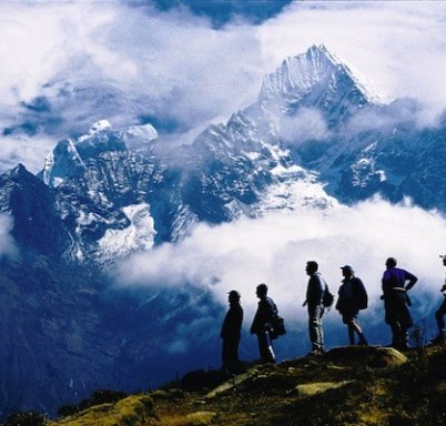 Picture of Nepal Gay Tour Package. Overlooking the Himalayas.